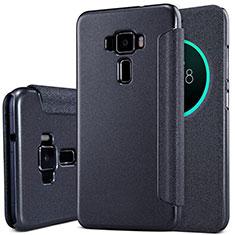 Asus Zenfone 3 ZE552KL用手帳型 レザーケース スタンド Asus ブラック