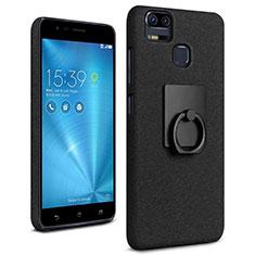 Asus Zenfone 3 Zoom用ハードケース カバー プラスチック アンド指輪 Asus ブラック