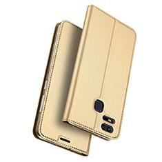 Asus Zenfone 3 Zoom用手帳型 レザーケース スタンド Asus ゴールド