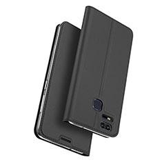 Asus Zenfone 3 Zoom用手帳型 レザーケース スタンド Asus ブラック