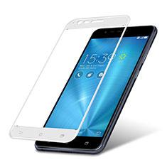 Asus Zenfone 3 Zoom用強化ガラス フル液晶保護フィルム Asus ホワイト