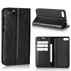 Asus Zenfone 4 Max ZC554KL用手帳型 レザーケース スタンド カバー Asus ブラック