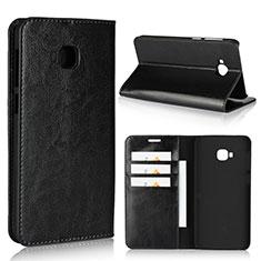 Asus Zenfone 4 Selfie Pro用手帳型 レザーケース スタンド カバー L01 Asus ブラック