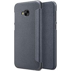 Asus Zenfone 4 Selfie Pro用手帳型 レザーケース スタンド Asus ブラック