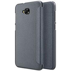 Asus Zenfone 4 Selfie ZD553KL用手帳型 レザーケース スタンド Asus グレー