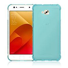 Asus Zenfone 4 Selfie ZD553KL用極薄ソフトケース シリコンケース 耐衝撃 全面保護 クリア透明 Asus ネイビー