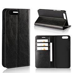 Asus Zenfone 4 ZE554KL用手帳型 レザーケース スタンド カバー L01 Asus ブラック
