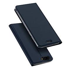 Asus Zenfone 4 ZE554KL用手帳型 レザーケース スタンド Asus ネイビー