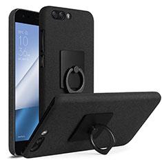 Asus Zenfone 4 ZE554KL用ハードケース カバー プラスチック アンド指輪 Asus ブラック