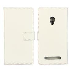 Asus Zenfone 5用手帳型 レザーケース スタンド カバー Asus ホワイト