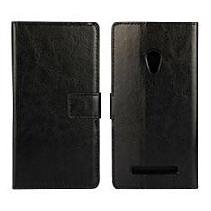 Asus Zenfone 5用手帳型 レザーケース スタンド カバー Asus ブラック