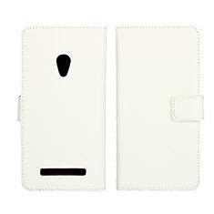 Asus Zenfone 5用手帳型 レザーケース スタンド カバー L01 Asus ホワイト
