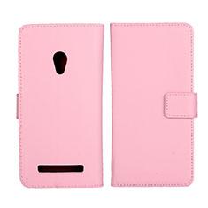 Asus Zenfone 5用手帳型 レザーケース スタンド カバー L01 Asus ピンク