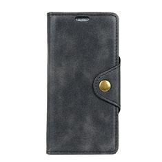 Asus Zenfone 5 Lite ZC600KL用手帳型 レザーケース スタンド カバー L02 Asus ブラック
