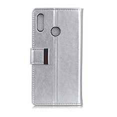 Asus Zenfone 5 ZE620KL用手帳型 レザーケース スタンド カバー L07 Asus シルバー