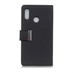 Asus Zenfone 5 ZS620KL用手帳型 レザーケース スタンド カバー L06 Asus ブラック
