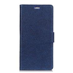 Asus Zenfone 5 ZS620KL用手帳型 レザーケース スタンド カバー L08 Asus ネイビー