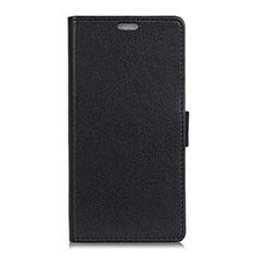 Asus Zenfone 5 ZS620KL用手帳型 レザーケース スタンド カバー L08 Asus ブラック