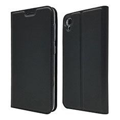 Asus ZenFone Live L1 ZA550KL用手帳型 レザーケース スタンド カバー Asus ブラック