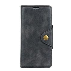Asus ZenFone Live L1 ZA550KL用手帳型 レザーケース スタンド カバー L01 Asus ブラック