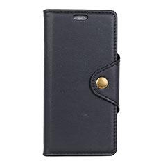 Asus ZenFone Live L1 ZA550KL用手帳型 レザーケース スタンド カバー L02 Asus ブラック