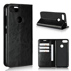 Asus Zenfone Max Plus M1 ZB570TL用手帳型 レザーケース スタンド カバー Asus ブラック