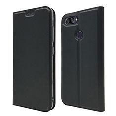 Asus Zenfone Max Plus M1 ZB570TL用手帳型 レザーケース スタンド カバー L01 Asus ブラック