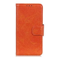 Asus Zenfone Max Plus M2 ZB634KL用手帳型 レザーケース スタンド カバー L06 Asus オレンジ