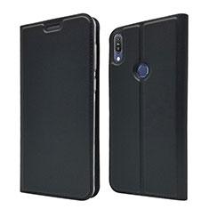 Asus Zenfone Max Pro M1 ZB601KL用手帳型 レザーケース スタンド カバー L01 Asus ブラック