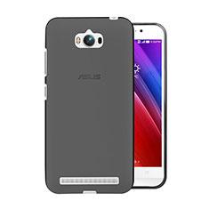 Asus Zenfone Max ZC550KL用極薄ソフトケース シリコンケース 耐衝撃 全面保護 クリア透明 Asus グレー