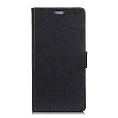 Asus ZenFone V Live用手帳型 レザーケース スタンド カバー L02 Asus ブラック