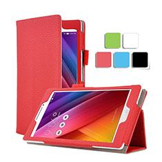 Asus ZenPad C 7.0 Z170CG用手帳型 レザーケース スタンド Asus レッド