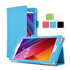 Asus ZenPad C 7.0 Z170CG用手帳型 レザーケース スタンド Asus ブルー