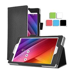 Asus ZenPad C 7.0 Z170CG用手帳型 レザーケース スタンド Asus ブラック