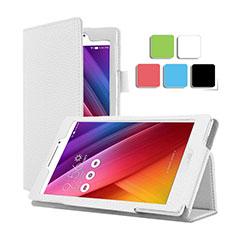 Asus ZenPad C 7.0 Z170CG用手帳型 レザーケース スタンド Asus ホワイト