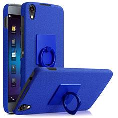 Blackberry DTEK50用ハードケース カバー プラスチック アンド指輪 Blackberry ネイビー