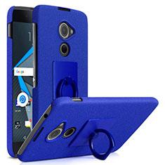 Blackberry DTEK60用ハードケース カバー プラスチック アンド指輪 Blackberry ネイビー