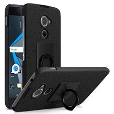 Blackberry DTEK60用ハードケース カバー プラスチック アンド指輪 Blackberry ブラック