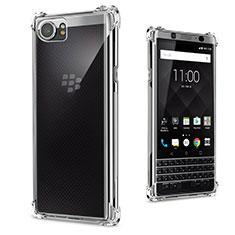 Blackberry KEYone用極薄ソフトケース シリコンケース 耐衝撃 全面保護 クリア透明 カバー Blackberry クリア
