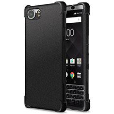 Blackberry KEYone用シリコンケース ソフトタッチラバー カバー Blackberry ブラック