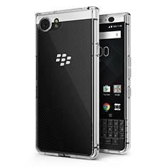 Blackberry KEYone用極薄ソフトケース シリコンケース 耐衝撃 全面保護 クリア透明 T02 Blackberry クリア