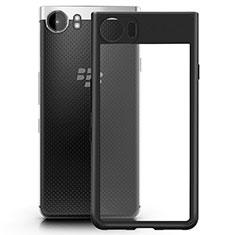 Blackberry KEYone用ハイブリットバンパーケース クリア透明 プラスチック Blackberry ブラック