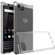 Blackberry KEYone用極薄ソフトケース シリコンケース 耐衝撃 全面保護 クリア透明 T03 Blackberry クリア