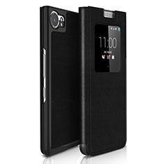Blackberry KEYone用手帳型 レザーケース Blackberry ブラック