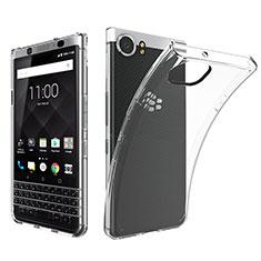 Blackberry KEYone用極薄ソフトケース シリコンケース 耐衝撃 全面保護 クリア透明 T05 Blackberry クリア