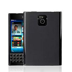 Blackberry Passport Q30用シリコンケース ソフトタッチラバー Blackberry ブラック