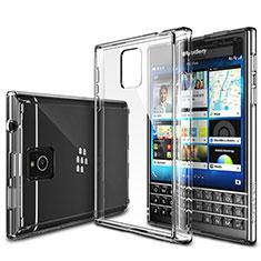 Blackberry Passport Q30用極薄ソフトケース シリコンケース 耐衝撃 全面保護 クリア透明 T02 Blackberry クリア