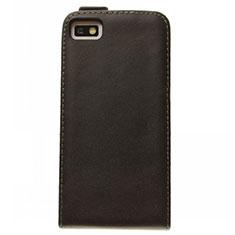 Blackberry Z10用フリップ レザーケース スタンド Blackberry ブラック