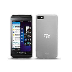 Blackberry Z10用極薄ソフトケース シリコンケース 耐衝撃 全面保護 クリア透明 Blackberry ホワイト