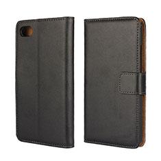 Blackberry Z30用手帳型 レザーケース スタンド Blackberry ブラック